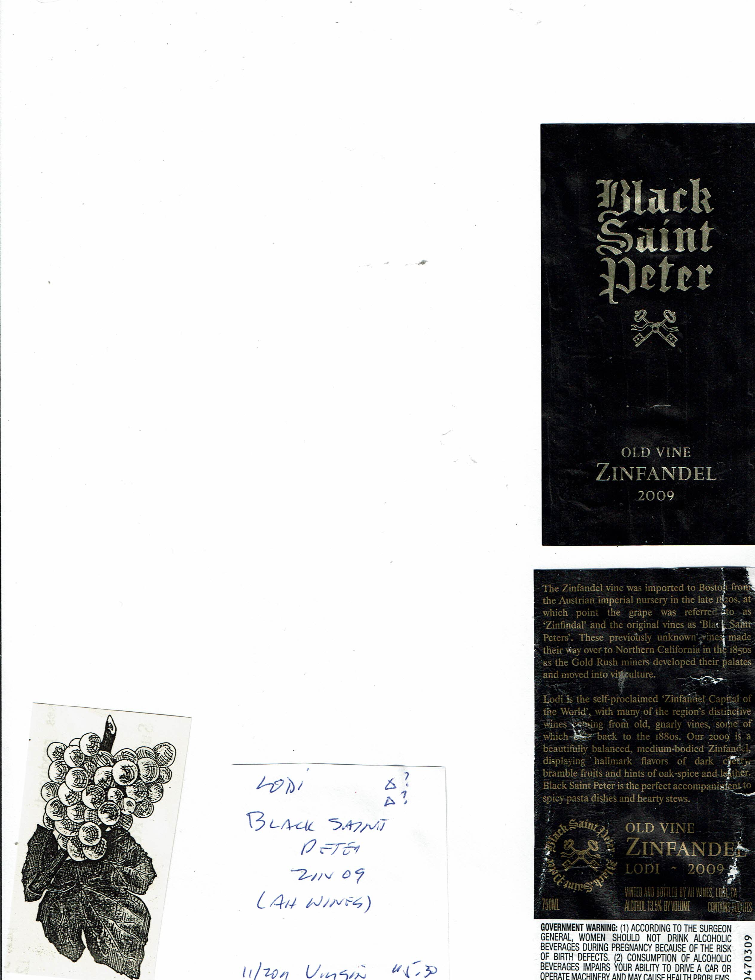 California Wine Label Collection Library Alexandre Christie Ac 6442 Mc Black White Llll